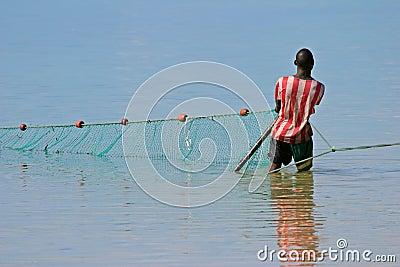 Rybak afryce południowej Mozambique Mozambiku