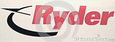 Ryder LKW-Zeichen Redaktionelles Stockfoto
