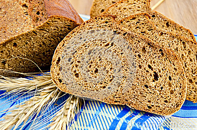 Rye Bread On A Napkin Stock Image - Image: 28695741