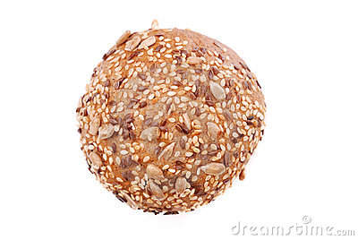 Rye bun with seeds