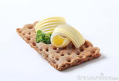 Rye cracker and butter