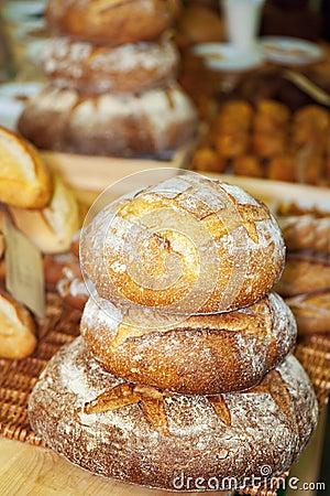 Rye round freshly baked bread