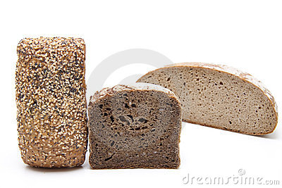 Rye and wholemeal bread with roll