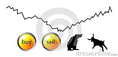 Rynki walutowi lub przyszłość ikony