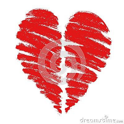 Rysunkowy serce