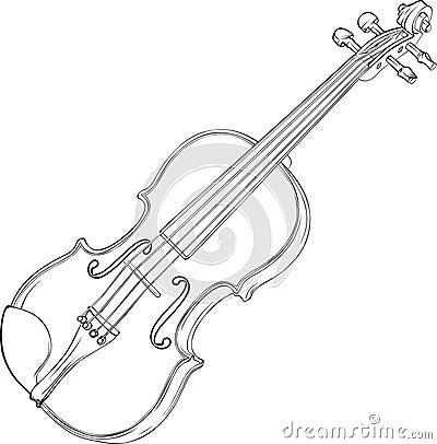 Rysunkowy skrzypce