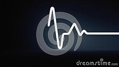 Rythme normal de sinus de coeur humain coloré, disque d'électrocardiogramme Conception lumineuse et audacieuse illustration libre de droits