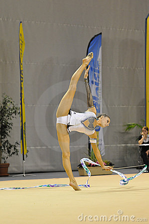 Rythmic Gymnastic, Delphine Ledoux Stock Photos - Image: 17090043