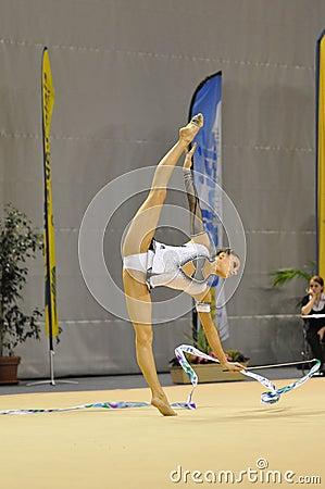 Rythmic gymnastic, Delphine Ledoux Editorial Stock Photo