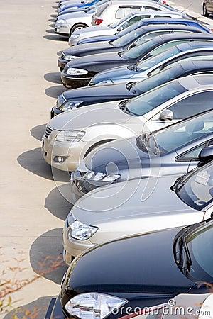 Rzędy samochody
