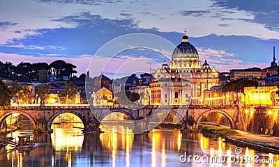 Rzym przy nocą