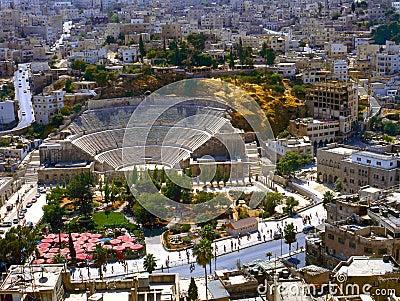 Rzymski Amman amphitheatre