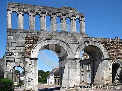 Rzymski bramy miasteczko