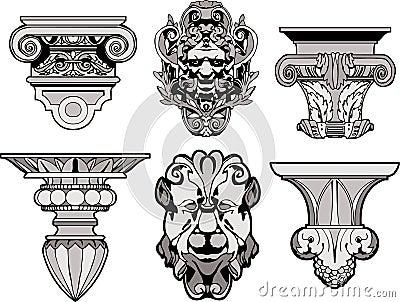 Rzymskie architektoniczne dekoracje