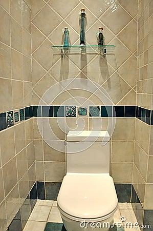 Säubern Sie Toiletteninnenraum