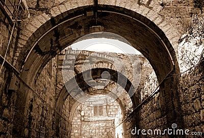 Säulengang in Jerusalem