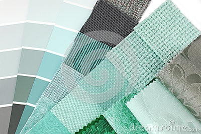 s lection des couleurs de tapisserie et de rideau de tapisserie d 39 ameublement photographie stock. Black Bedroom Furniture Sets. Home Design Ideas
