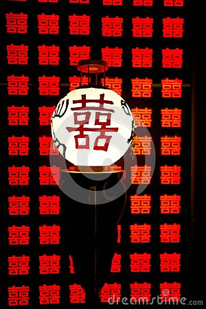 Símbolo chinês da felicidade