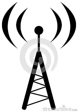 Símbolo Da Antena De Rádio Foto de Stock Royalty Free - Imagem: 14968085