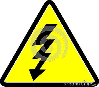 Símbolo de advertência da eletricidade
