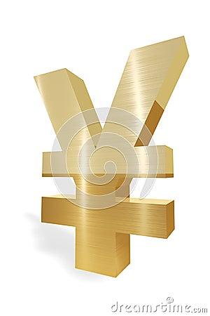 Símbolo de moneda de los yenes