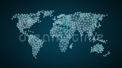 Símbolo de moeda bitcoin faz do mapa global do mundo, internet das coisas tecnologia financeira 1 vídeos de arquivo
