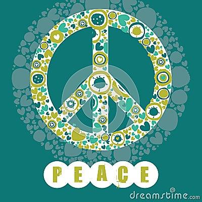 Símbolo de paz del Hippie