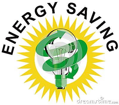 Símbolo del ahorro de la energía de la bombilla
