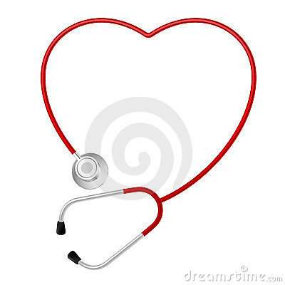Símbolo do coração do estetoscópio