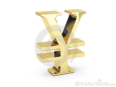 Símbolo dourado dos ienes