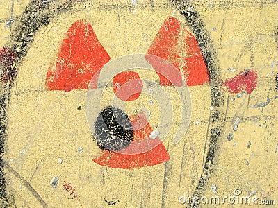 Símbolo Nuclear Da Radiação Do Perigo