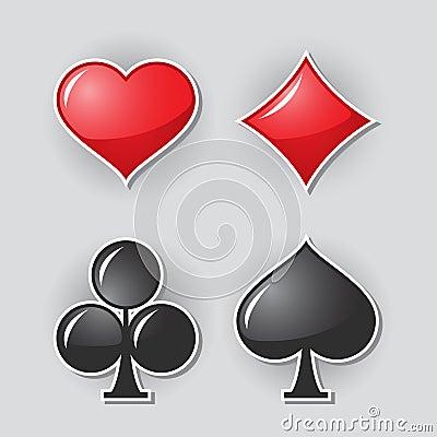 Símbolos del juego de la tarjeta