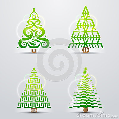 Símbolos estilizados da árvore de Natal