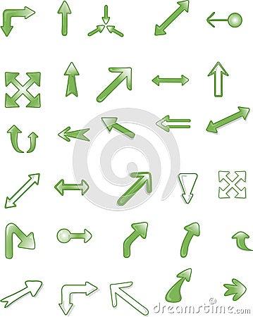 Símbolos o iconos de la flecha