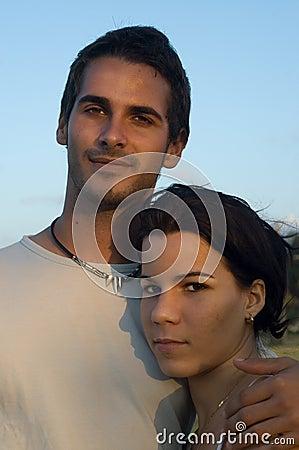 Süße jugendlich Paare