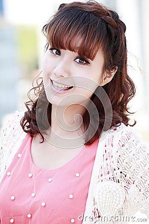 Süßes chinesisches Mädchen