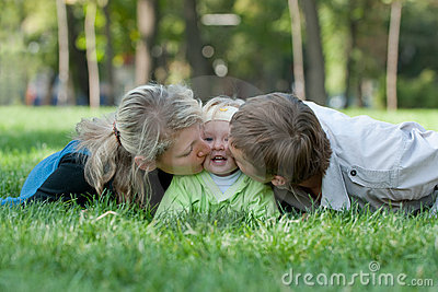 Süßes parenting