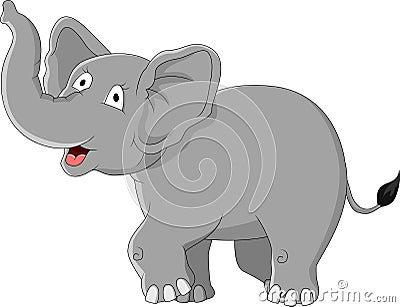 Słoń śmieszna kreskówka