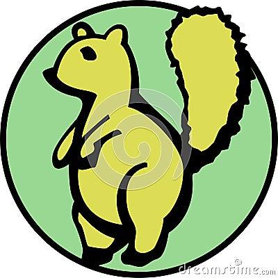 Słodkie dostępne fluffy wiewiórka ogona wektora