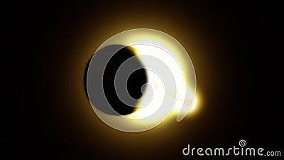 Słoneczny zaćmienie - folujący zaćmienie