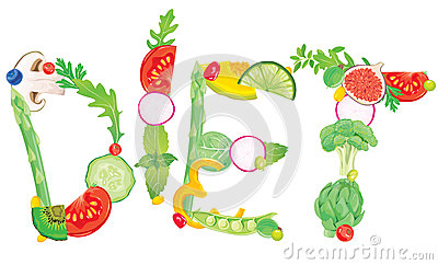 Słowo dieta od jedzenia