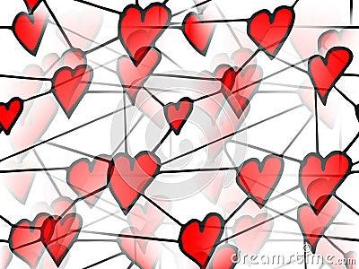 Słucha miłości czerwień