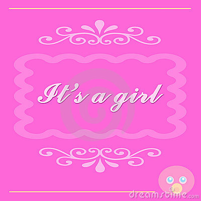 It s a Baby Girl Card