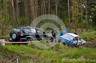 S. Benskin off road on Ford Escort Editorial Photography