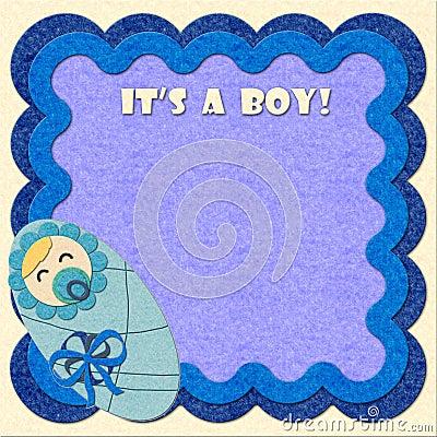 It s a boy! birthday felt greeting card