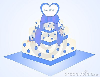 It s a Boy Cake Illustration