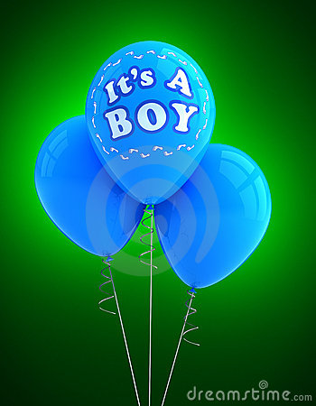 It s a boy party balloon