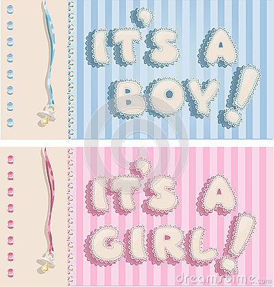 It`s a boy and it`s a girl banners