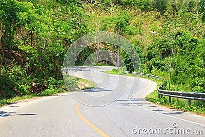 S-curve road