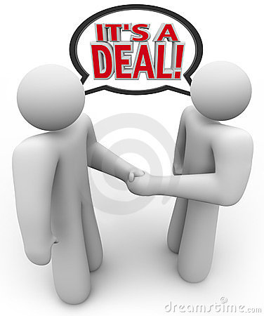 It s a Deal People Buyer Seller Handshake